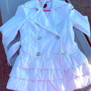 White express dress coat size xs